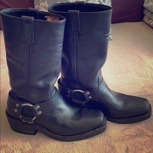 Women's Harley Davidson black leather boots
